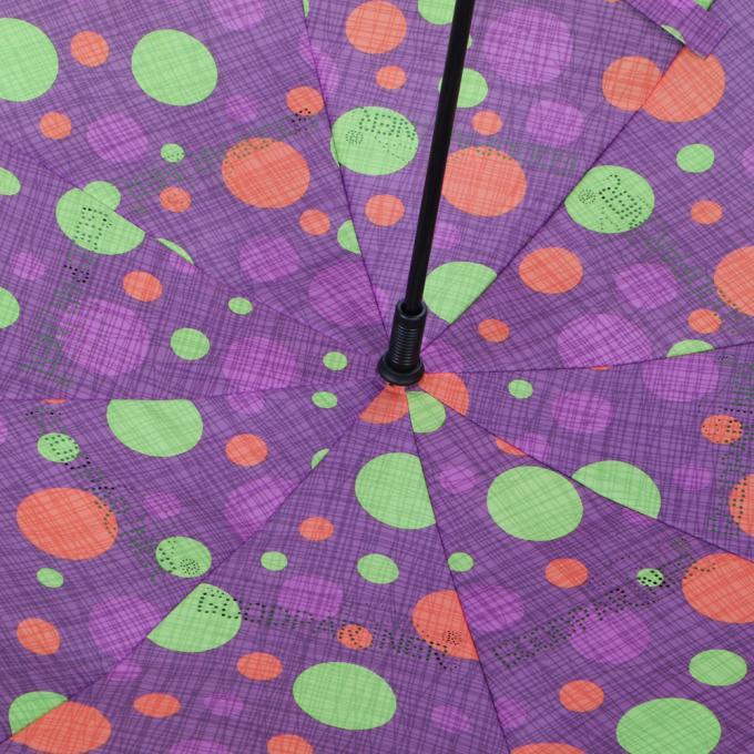 Auto Open Reverse Inverted Umbrella With Torchlight LED Handle 190T Pongee Fabric