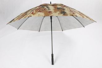 China 210D Oxford Camouflage Double Canopy Golf Umbrella With Logo Fiberglass Frame factory