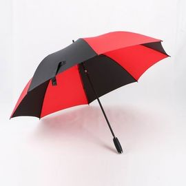 China Luxury Strong Umbrella Wind Resistan , Golf Rain Umbrella With Silica Gel Handle factory