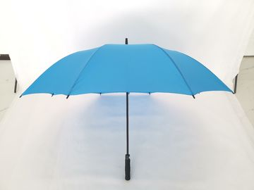 China Standard Size Blue Promotional Golf Umbrellas , Golf Style Umbrella Black EVA Handle factory