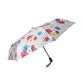 China Strong Frame Auto Open Close Umbrella , Windproof Foldable Umbrella For Women factory