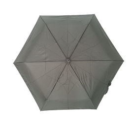China Small Black 6 Ribs Automatic Open And Close Umbrella With Super Light Weight factory