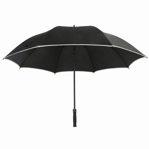 Black RPET Windproof Golf Umbrellas Reflective Perimeter Tape For Safety supplier