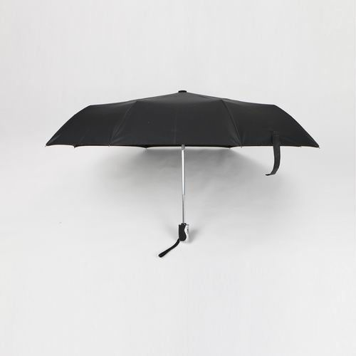 21 inch black auto open close umbrella with black pongee for promotion
