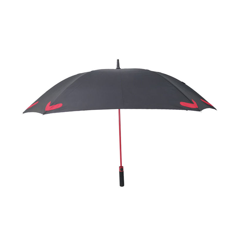 Square Shape 8 Ribs Storm Proof Umbrella With Reflective Logo Print And Skidproof Top supplier