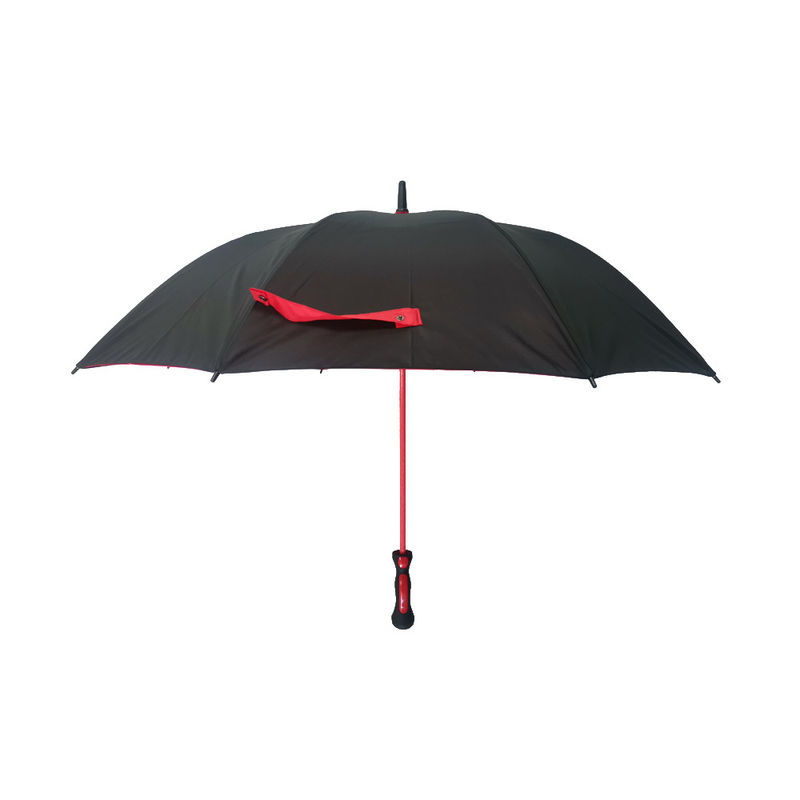30 Inch Automatic Black & Red Double Canopy Golf Umbrella Inside With Black Net supplier